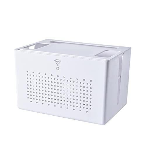 Bettying 2-Schicht Weiß Wandhalterung WiFi Router Stand,Router Aufbewahrungsbox,Aufhängebox Für WiFi-Set-Top-Box,Desktop-Aufbewahrungsbox Multifunktions-Bildschirm-Rack/Regal