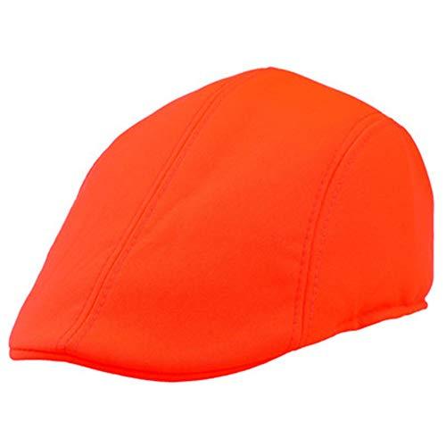 JUNGEN Unisex Boina de Moda Gorras de Beisbol Retro Sombrero de Sol al Aire Libre Casquillo Ocasional Primavera Verano para Hombre Mujer (Naranja)