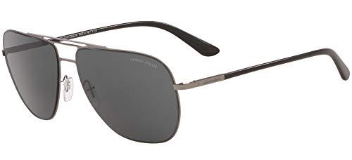 Armani Gafas de sol Giorgio AR6060 300387 Gafas de sol Hombre color Gris Gunmetal tamaño de lente 59 mm