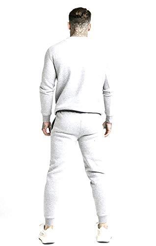 Sik Silk Jogger SS-16080 - Pantalones de deporte para hombre, color gris gris M