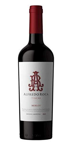 Alfredo Roca- Vino Tinto Merlot - Industria Mendoza -Argentina - Vino con notas Dulces y Tostadas debido a su Paso por Barricas de Roble- Cosecha 2018-75 Cl