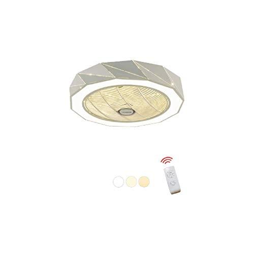 SPNEC Techo de la lámpara Redonda-luz de Silencio luz del Ventilador eléctrico, Escalera Redonda Moderno Montaje de iluminación, lámpara de Techo de diseño del Accesorio Ligero de Comedor Pasillo