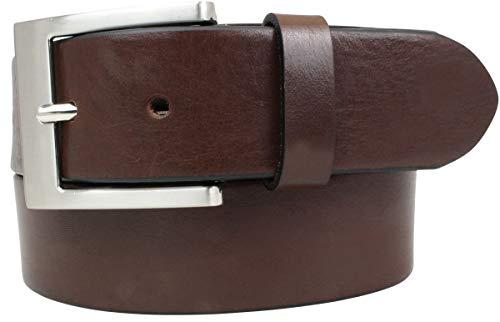 Brazil Lederwaren Hochwertiger Jeansgürtel aus Vollrindleder 4 cm | Ledergürtel für Damen Herren 40mm | Jeans-Gürtel | Braun 100cm