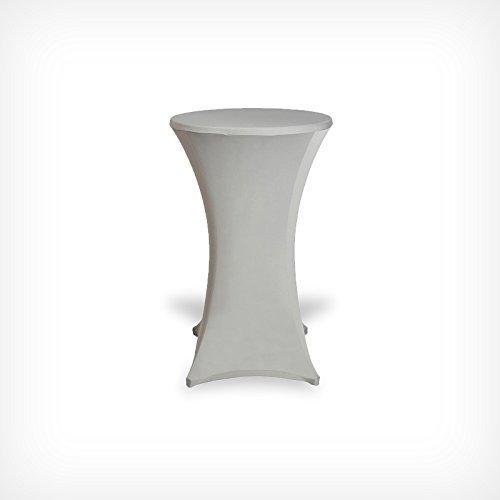 DRULINE Stehtischhussen Tischhusse Tisch Husse Stehtisch Bistrotisch Hussen Tischbezug Bezug (60x120, Silber)