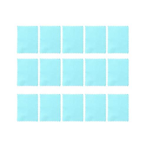 Holibanna 30 Piezas de Paños de Limpieza de Joyas Solución de Paños de Pulido para Plata Oro Diamantes Platino Joyas Piedras Preciosas Azules