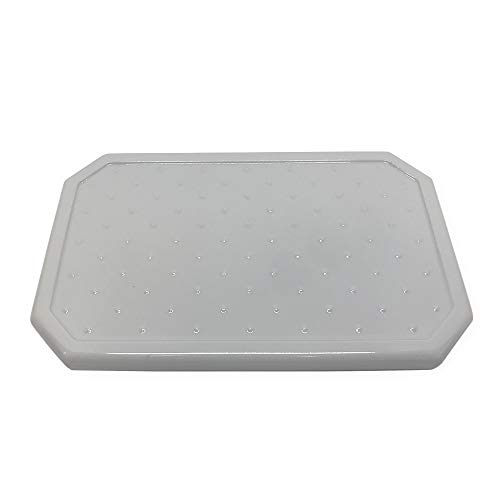 Questech Large Vanity Tray Organizer - Polished Cool Gray Eyeglass Tray, Jewlery Dish, Bathroom Decorative Tray
