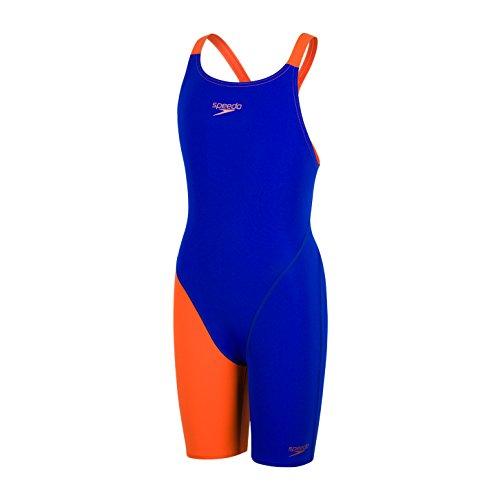 Speedo Fastskin Endurance+ Openback Kneeskin Mädchen ultrasonic/salso Kindergröße 164 2019 Schwimmanzug