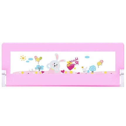 HYXFC Bed Rails for Toddlers Bed Guard Bed Rail Foldable Safety Protection Guard Anti-Fall for Baby/Toddlers/Kids/Children Fold Down Bed Guards Childs Nursery (Color : Pink, Size : 200cm)