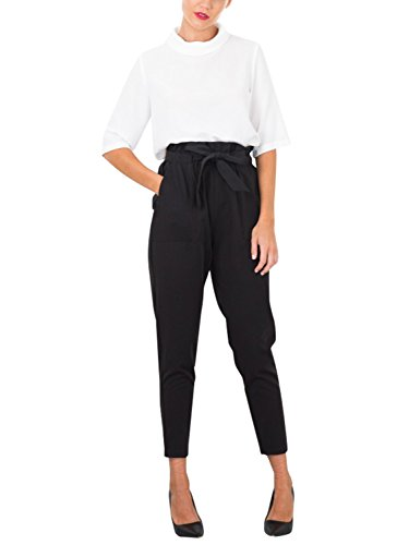 Missy Chilli Damen Hosen Elegant High Waist Skinny Strech Skinny Chiffon Hosen Casual Streetwear Pants