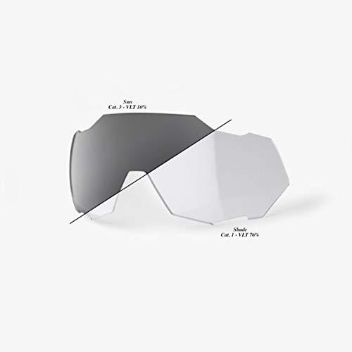 100 % SPEEDTRAP Photochromic Clear/Smoke Unisex Erwachsene Linse, Weiß, One Size