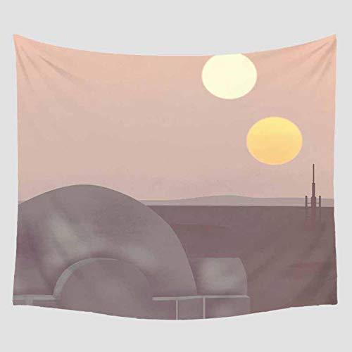 AdoDecor Tapiz con patrón Impreso, decoración para Colgar en la Pared, mobiliario, Viaje, Picnic, Playa, Camping, Manta Bohemia, 150x200 CM