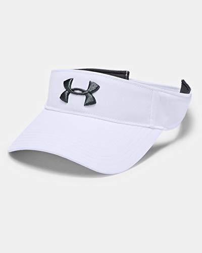 Under Armour Men's Core Golf Visor Gorras Con Visera De Corte Clásico, Gorra De Hombre Hombre blanco OSFA
