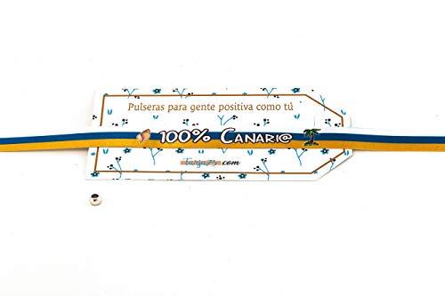Tarja 73 | Pulseras De Tela Con frases molonas: 100% CANARIO | Regalo Original. BANDERA DE LAS ISLAS CANARIAS.