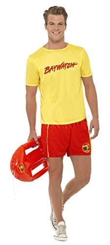 Smiffys, 32868L Herren Baywatch Strand-Kostüm, T-Shirt und Shorts, Größe: L, 32868