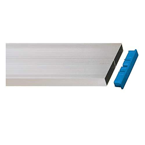 Règle en aluminium de maçon de 2mètres, dimensions 100x18mm