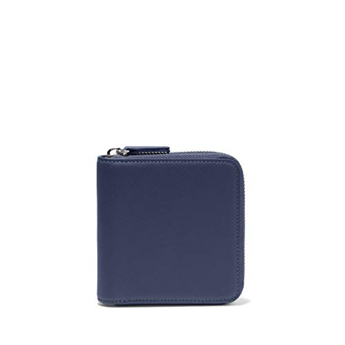 Leatherology Navy Small Zippered Wallet