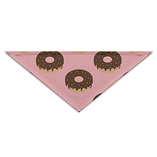 Gxdchfj Pink Donut Pet Dog Cat Puppy Bandana Triangle Head Scarfs Accessories