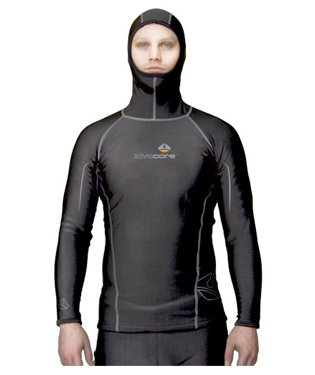 Lavacore Men's Polytherm Long Sleeve Hooded Scuba Diving Shirt, 2XL