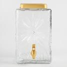 Retro Cut Glass Starburst Drink Dispenser | World Market