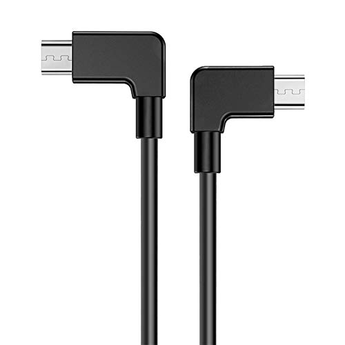 iEago RC Micro USB a Micro USB Cavo OTG 90 gradi Angolo retto Dati connettore Immagine Trasmissione Cavo per DJI Mavic Mini PRO Spark Mavic Air Mavic 2 PRO e zoom controller Accessori