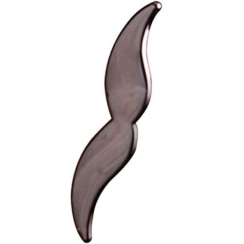 fatteryu Hombres Boda Traje de Negocios Corbata Bigote Decoración Barras de Corbata Pin Broche Accesorios de Regalo A