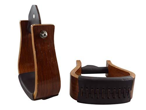 APPALERO Western - Estribo de madera de fresno oscuro