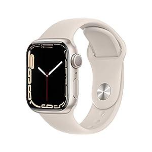 Apple Watch Series 7(GPSモデル)- 41mmスターライトアルミニウムケースとスターライトスポーツバンド - レギュラー