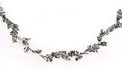 HomeZone 150cm Christmas Sage Garland Home Decoration Mistletoe Pinecones Berries Xmas Home Decor Festive Decorative Garland Xmas Hanging Decoration
