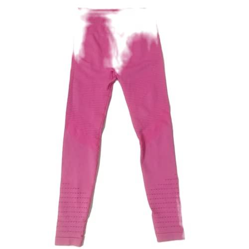 QTJY Pantalones de Yoga para Mujer Pantalones de chándal para Correr de Secado rápido elásticos de Moda Medias de Celulitis con Levantamiento de Cadera de Cintura Alta C XL
