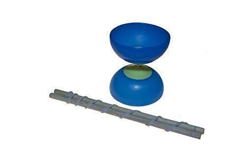 Juguetutto - Diábolo Azul Grande - Juguete de madera