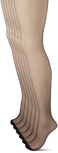 Dim Collant Voile Mes Essentiels 4+2, 15 DEN, Noir (Noir 0hz), X-Large (Taille Fabricant:4) (Lot de 6) Femme