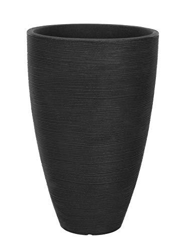 Spetebo Macetero en diseño acanalado – 39,5 x 60 cm – Maceta de plástico redonda para interior...