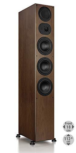 Nubert nuLine 284 Standlautsprecher | Lautsprecher für Stereo | Heimkino & HiFi Qualität auf hohem Niveau | Passive Standbox mit 3 Wege Technik Made in Germany | Standbox Nussbaum | 1 Stück