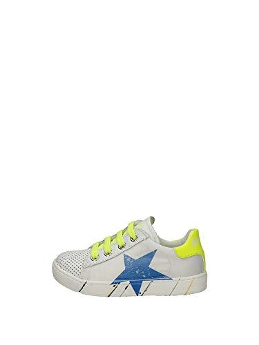 Naturino ARLON Zip-Sneakers in Pelle e Nylon Bianco 26