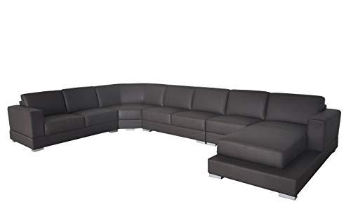 JVmoebel Ecke Leder Modern XXL Couch Wohnlandschaft Ledersofa Sofa U-Form A1127