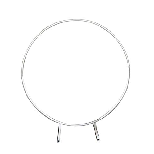 JJIIEE Wedding Arch Backdrop Round Archway Metal Circle Arch Frame Decoration,Round Support Balloons Stand Gate for DIY Decoration Party Props Photography Shelf,2m