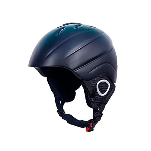 Casco De Esquí Patín, Protección De Seguridad Casco De Ciclismo Casco Deportivo Al Aire Libre, Casco De Monopatín Ajustable para BMX Bicicletas Scooter Skiing, 57-62cm,(Color:Negro)