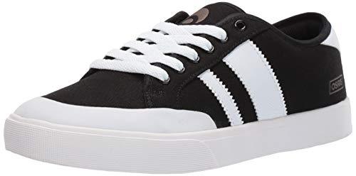 Osiris Men's Kort VLC Skate Shoe, Black/White, 14 M US