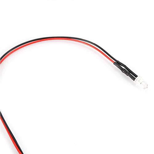 Ahorro de energía 10 pcs Diodo cableado 20 Diodo emisor de luz cableado para LED emisor de luz(White hair green)