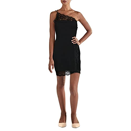 Intimately Free People Womens Lace Trim Short Bodycon Dress Black M