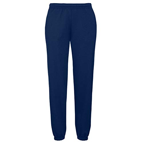 Fruit of the Loom Classic Elasticated Cuff Jog Pants Herren Jogginghose, Farbe:Navy, Größe:L