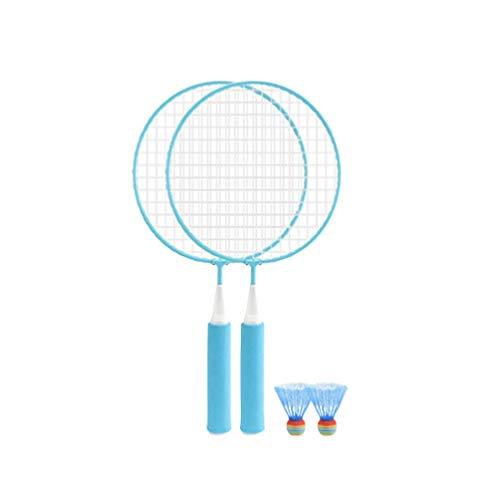 Elise Badmintonschläger Kit Kinder Badminton Set mit 2 Schläger, Ball Schläger Play Game Beach Toys Outdoor Sports Zubehör Anfänger Trainingszufalls (Color : Blue)