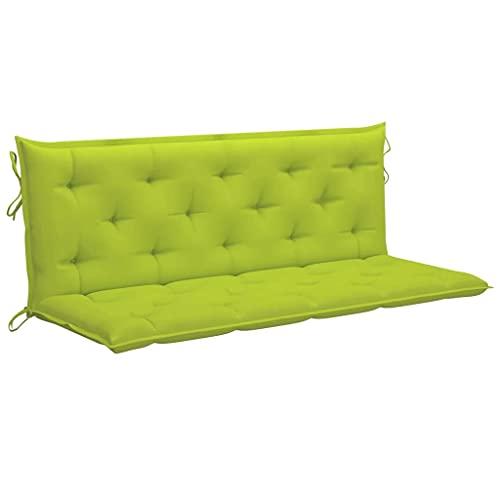 vidaXL Cuscino per Dondolo Verde Brillante 150 cm in Tessuto