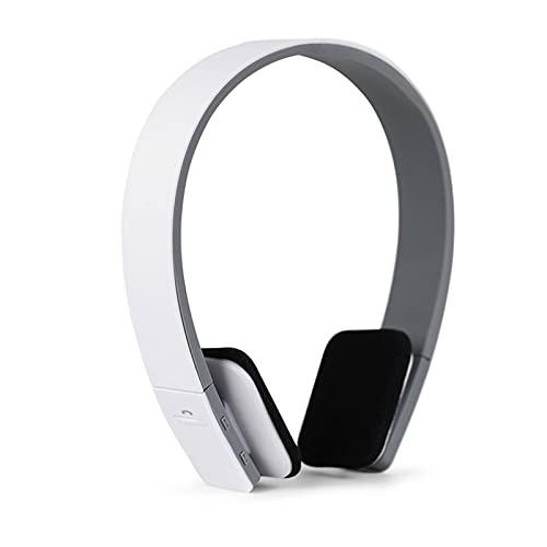 SKK Auriculares Gamer Auriculares inalámbricos Bluetooth Deportes con Cabezal de Trigo montado en el Cuello Montado Teléfono Móvil UniversalrComfort Reducción de Ruido Cascos Gaming (Color : White)
