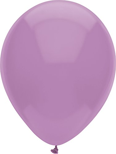 PartyMate Made in the USA Pastel Color 12-Inch Latex Balloons, 100-Count, Luscious Lavender