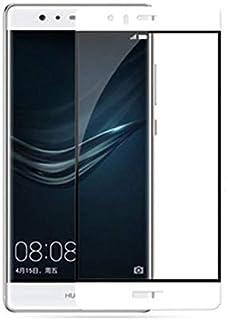 واقي شاشة من الزجاج المقسى الحقيقي لهاتف هواوي P9 بلس [لهاتف P9 بلس] أبيض