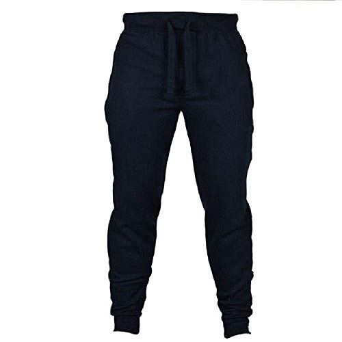 Sweatpants Men's Warm Joggrs Pants Men Loose Trousers Navy