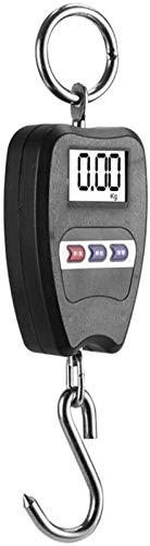SLL Equilibrio electrónico de la Escala de Equipaje electrónico portátil de Alta precisión. práctico (Color : Black)