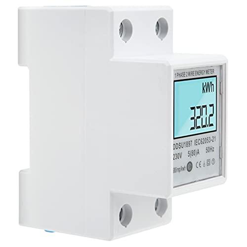 KUIDAMOS Medidor de Potencia, Material ABS Medidor de Potencia Digital Medidor de...