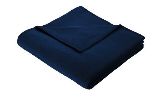biederlack bocasa 6421 11 61 008 Decke Cotton Pure dunkelblau ca. 150 x 200 cm 100% Baumwolle
